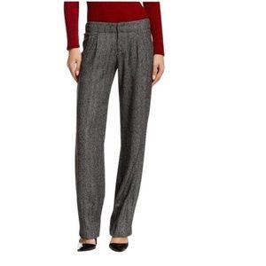Alice + Olivia Wool Herringbone Hart Tweed Pants